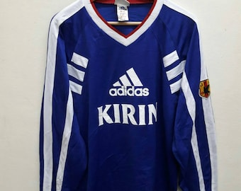 Adidas Kirin Long Sleeve T-Shirt Jersey big logo Large Size