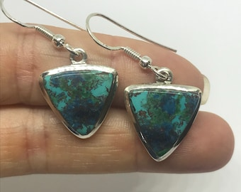 High Quality Chrysocolla earrings