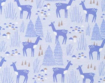 ORGANIC Flannel Roam Free Blue print,Organic Flannel For Baby, Children, Blue Flannel from Field Day Collection Cloud9 Collection
