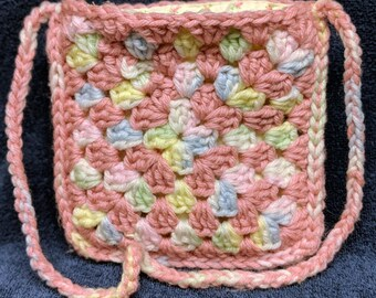 Pink Granny Square Purse