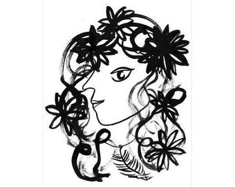 Wild Flora Giclee Print (A4)