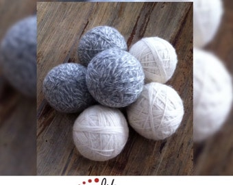 Felted Wool Dryer Balls, Set of 6, unscented