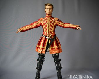 The Tudors Henry VIII outfit, Tudor Medieval cosplay, Tonner clothes, bjd clothes, doll clothes, bjd dress, doll clothes, bjd clothing.