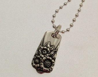 Silver Pendant. APRIL Spoon Pendant. Silverware Jewelry. Spoon Ring.