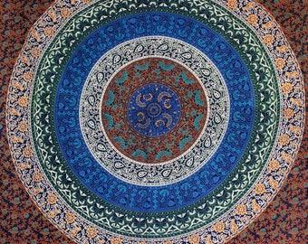 Boho Decor Mandala Tapestry Wall Hanging Large Wall Art Yoga Decor New House Gift Large Wall Art Bohemian Decor Twin Bed Sheet Yoga Decor