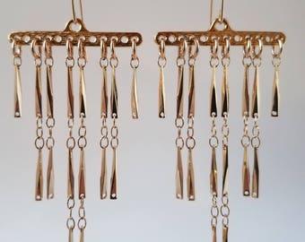 Beautiful Gold Chandelier Earrings