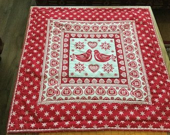 Christmas Scandinavian Red and White large table centrepiece or wall hanging