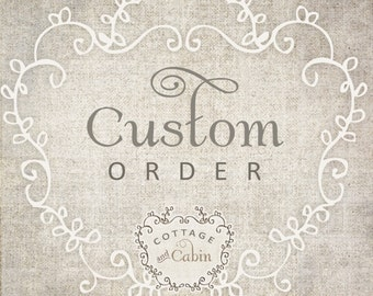 Deposit Listing for Washed Linen Nursery Bedding made by Cottage and Cabin - Deposit for Your Requested Crib Bedding-Custom Listing Deposit
