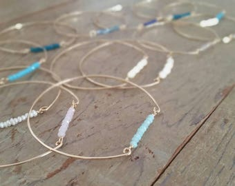 Handmade Dainty Bangle Bracelets from Hawaii