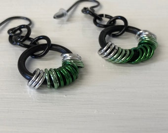 Coiled Chainmail Earrings