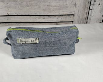 """Recycled denim lined """"green"""" Kit"""