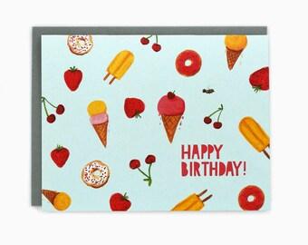 Happy Birthday Sweets - greeting card
