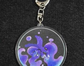 Fan Art MLP Princess Luna Acrylic Keychain