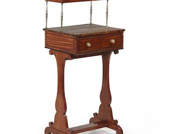 Very Fine Petite English Regency Antique Writing Desk, 19th Century