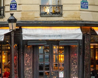 Café St. Regis Paris, fine art paris photography, storefront photograph, travel photo, wall art