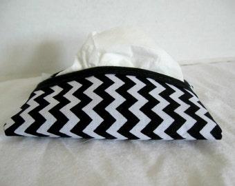 Chevron Tissue Holder Black Tissue Cozy Pocket Tissue Case