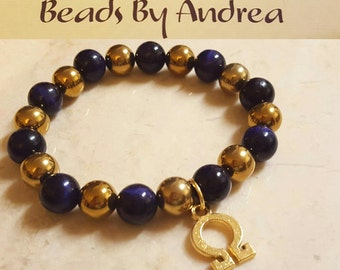Fraternity Charm collection-Omega Purple and Gold