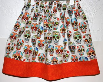 Day of the Dead  Skirt    only size 4 and 5 left
