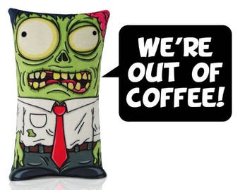 We're out of coffee! The office employee zombie plush