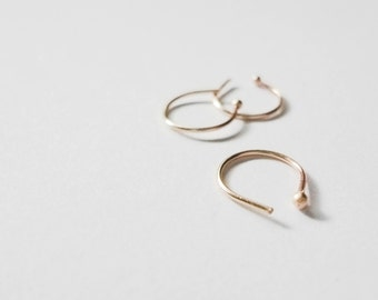14k YELLOW gold and sterling SILVER combo | 22g nose ring bundle | slim fit