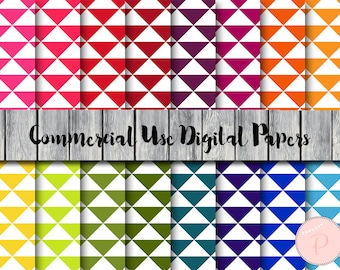 Triangular Digital Paper, Triangle Pattern, Download Digital Papers, Commercial Use, Scrapbook Digital Papers, Digital Background, dp96
