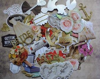 45 die-cuts embellishment scrapbooking card making, home decor romantic Shabby Chic wedding bride love romantic Scrapbook junk journal alliance