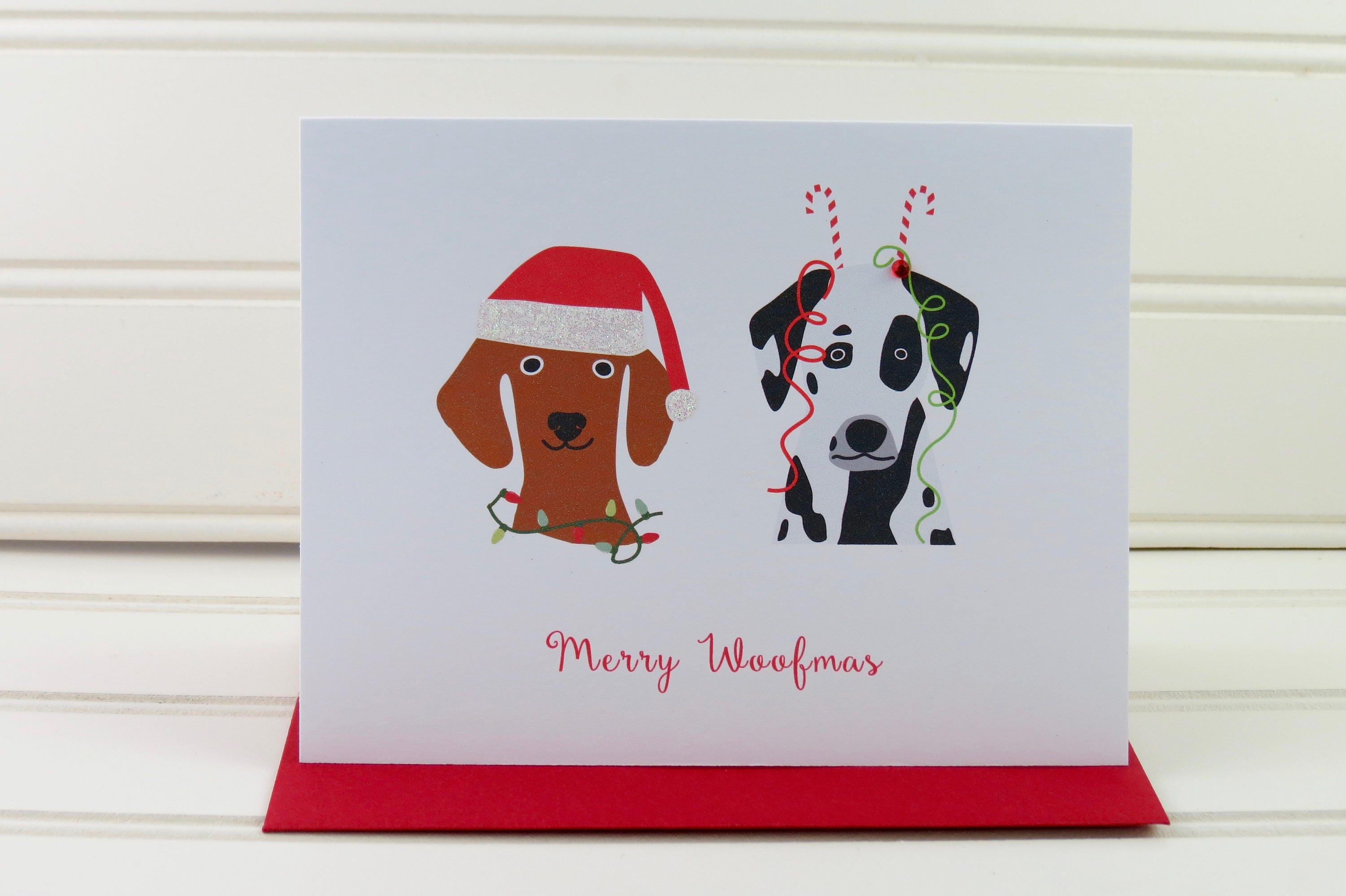 Dog christmas card funny christmas card card for dog owner zoom kristyandbryce Image collections