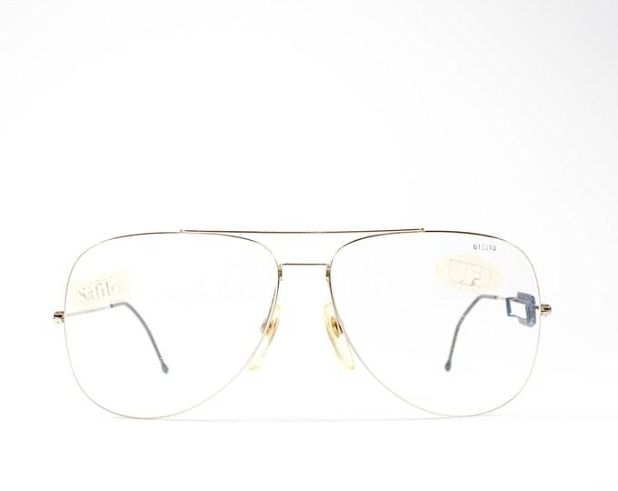 Vintage Eyeglass Frame   80s Aviator Glasses   1980s Eyeglasses   Gold Ultra Light Glasses - UFO 3001