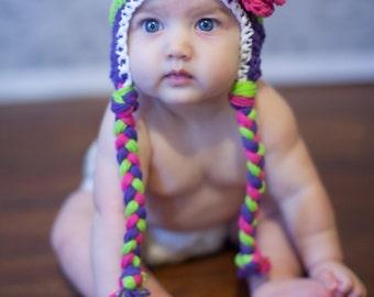 baby hat little girls hat girls hat baby girl hat crochet baby hat kids hat crochet kids hat, girls, girls winter hat, crochet hat for girls