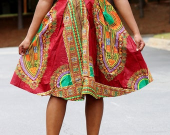 Dashiki fashion dress /dashiki short dress