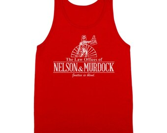 Nelson And Murdock Law Firm Funny Comic Humor Tank Top DT1128