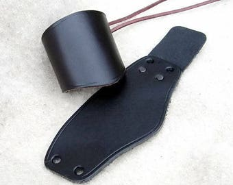 Leather wrist band - [03 Schü-K]