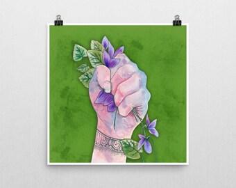 CRUSH Botanical Art Print Unframed