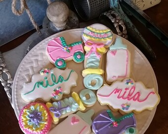Baby Shower Cookies - 2 Dozen