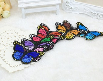1 Set Colorful Butterfly Embroidery Patch,Butterfly Patch,Butterfly Applique, Iron on the Patch,Custom Patch,Butterfly Iron on,Socks Patches
