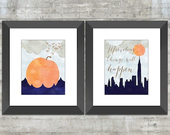 James and the Giant Peach 8x10 or 16x20 Children's Wall Art, Book Nursery Art or Playroom Art Print Set