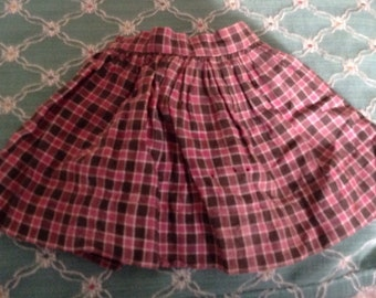 Vintage Plaid Doll Skirt