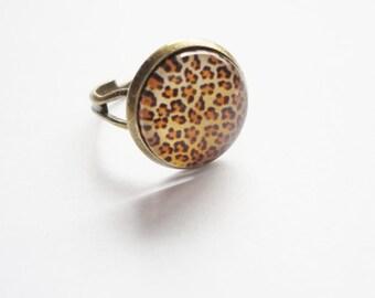 Ring Animalprint adjustable