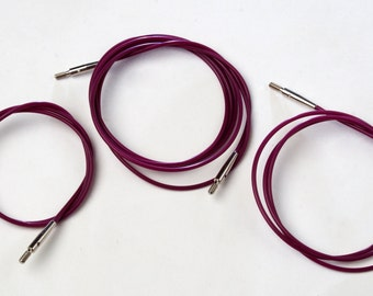 Lot of KnitPro cables for interchangeable needle tips - the same as Knitters Pride - SALE - from 12.99 USD