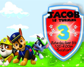 Dog Kids Birthday Invitation