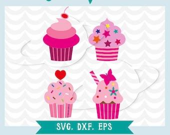 Cupcake svg, cupcake dxf, cupcake eps, cupcake stencil, muffin svg, muffing dxf, muffing eps, muffing stencil, muffin vector