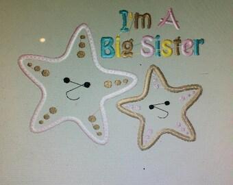 Personalized I'm a Big Sister Starfish Shirt