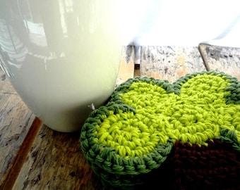 Rustic Coasters - Tree Coasters - Crochet Coasters - Drink Coasters - Crochet Tree - Country Home Decor -  Housewarming Gift - Wedding Gift