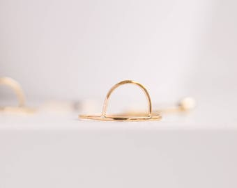 Arc Ring | Half Circle Ring | Gold Filled Ring | Dainty Ring | Stacking Ring | Thin Ring | Gold Ring | Stackable Ring | Gift For Her