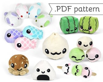 Japanese Snack Pattern Pack - Compilation of 8 .pdf Sewing Patterns