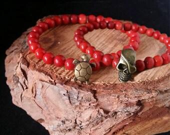 Pulsera náutica -- Nautical bracelet -- Pulsera hombre -- Pulsera coral