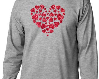 Glitter Hearts Long Sleeve T-Shirt