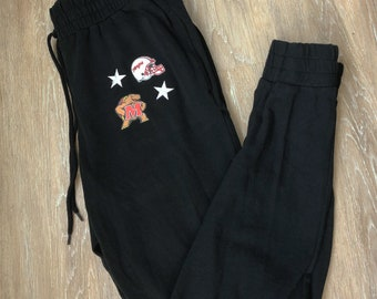 Patched College Jogger Sweatpants