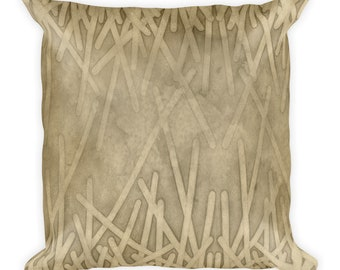 Sand geode  -   Square Pillow --  18x18       ship from USA