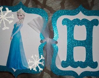 Frozen Birthday Banner, Disney Frozen, Elsa Birthday Banner